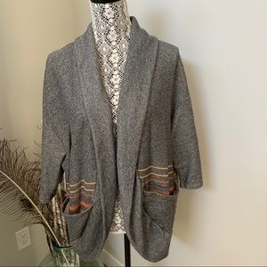 GENTLE FAWN Cocoon Cardigan Grey Size Large
